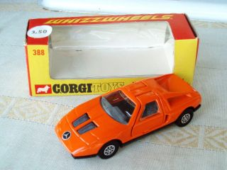 Corgi 1970 Mercedes Benz C111 Whizz Wheels Orange Diecast Racecar w