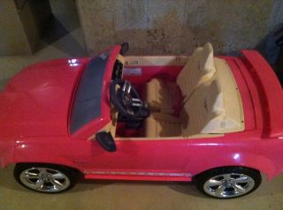 Fisher Price Power Wheels Barbie Mustang Pink