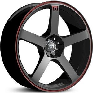 18 inch Motegi Racing MR116 Black Wheels Rims 5x112 35
