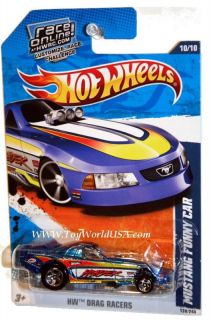 2011 Hot Wheels HW Drag Racers 130 Mustang Funny Car