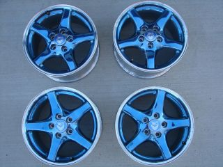 ANNIVERSARY TRANS AM COLLECTOR EDITION WHEELS RIM SET CENTER CAPS 25th