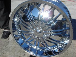 24 Wheels Rims Package Free Tires Tyfun TF706 Chrome 6x139 7 ET30
