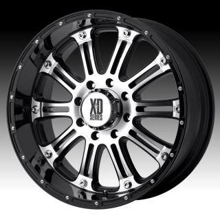 XD795 Hoss 16x8 0 Wheel Set Black Machined Offroad Rims Set