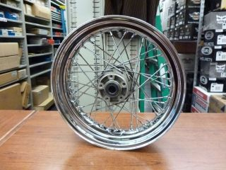 Harley Davidson Dyna 17 x 4 5 Rear Laced Wheel USED Damaged Hub 40979