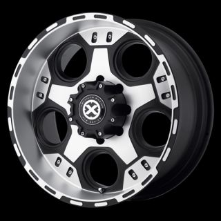 AX184 Wheel Set Black Offroad Rims 5 Lug 6 Lug 8 Lug Trucks XD