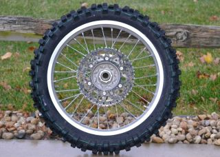 Kawasaki KX250F Stock OEM Strait Back Rear Wheel Rim Hub Tire Spokes