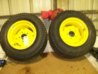 John Deere 318 Rear Tires and Rims 23x10 50x12
