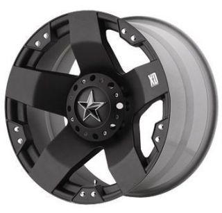 22 inch KMC XD Rockstar Black Wheels Rims 8x6 5 8x165 1