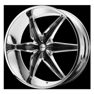 22 Helo 866 Wheel Set Rims Chrome Chevy Dodge Nissan Mercedes GMC