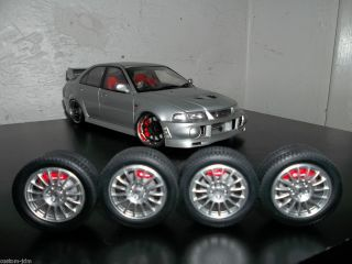 Rally Lancer EVO 6 Wheels Tires Set Rims UT Kyosho Modified