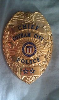 Batman Movie Prop Gotham City Chief Badge