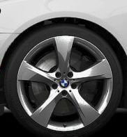 BMW F25 x3 Genuine 20 Chrome Wheels Star Spoke 311 New