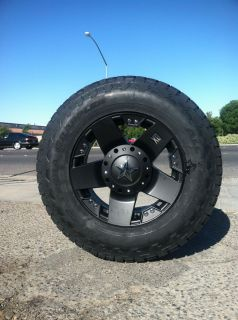 18 Black Rims Tires 8x165 Chevy GMC Dodge LT275 70 18 10 Ply Nitto XD