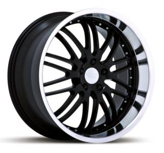 20x8 5 20x10 Ruff Racing 281 Black Wheels Only Corvette