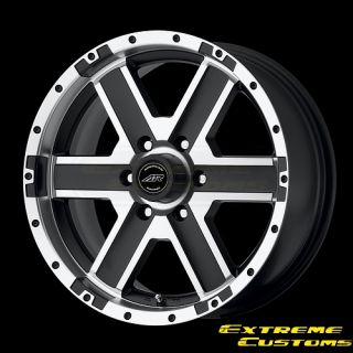 Racing AR681 Element Black Mach 4 5 Lug Wheels Rims Free Lugs