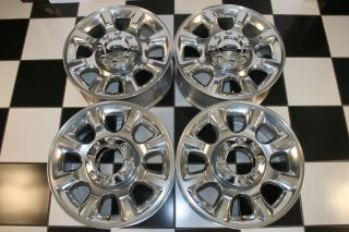 Ford F250 SD Factory 20 Polished Wheels Rims 3844 Set of 4