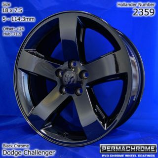 Dodge Challenger Black Chrome Wheels Exchange Sale