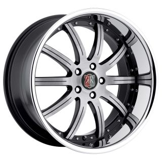 19 MRR RW3 Black Chrome Wheels Rims Fit Lexus IS3000 IS250 is350 Is F