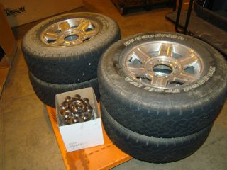 Dodge RAM 2500 3500 Polished Wheels Tires Rims BFGoodrich 2384