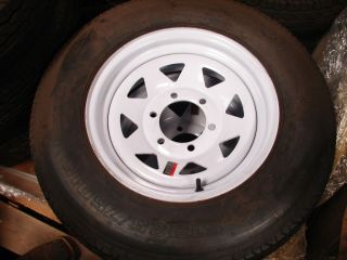 15 Utility Boat Trailer Wheel Tire New w Spoke 6 Lug 225R