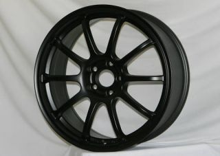 17 ROTA G FORCE BLACK RIMS WHEELS 17x8 +35 5x114.3 RSX CIVIC LANCER