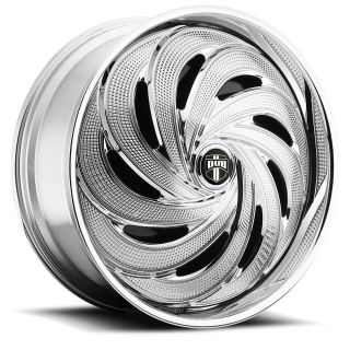 Spin Flo Wheel Set Chrome Spinner 26x10 rwd 5 6 Lug Rims 26inch
