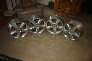 20 Chevy OEM 5 Spoke Wheels   Set of 4   Suburban, Avalanche, Tahoe