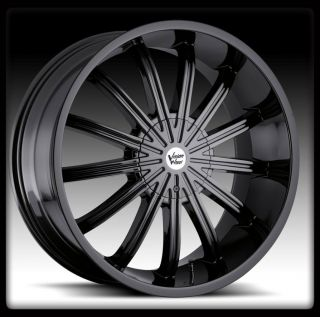 VISION 456 XTACY 5X115 300C CHALLENGER SRT8 MAGNUM BLACK WHEELS RIMS