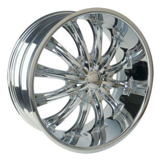 20 Wheels Rims Package Free Tires Bentchi B15 Triple Chrome 5x100