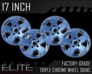 2009 2011 Dodge RAM 17 Chrome Wheels Skins Covers