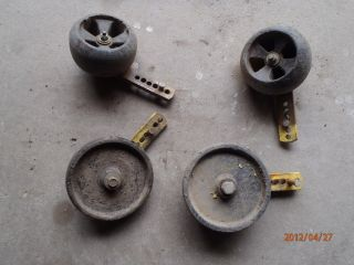 John Deere 318 Garden Tractor Deck Guide Wheels and Arms Casters