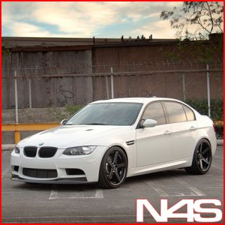 F30 328 335 Stance SC 5IVE Black Concave Staggered Wheels Rims