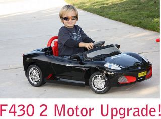 F430 Car 2 Motors Upgrade Power Kids Ride on Wheels Blk