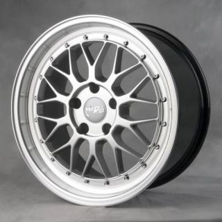 18 Miro 380 Hyper Silver Staggered Wheels Rims Fit Audi A3 A6 TT