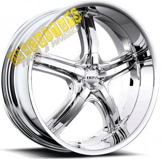 22 inch Boss Wheels 333 Chrome Rims Tires Explorer Aviator Ranger