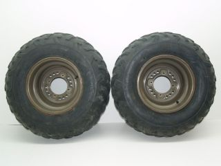 04 Kawasaki Prairie KVF 360 4x4 Rear Wheels Rims Tires
