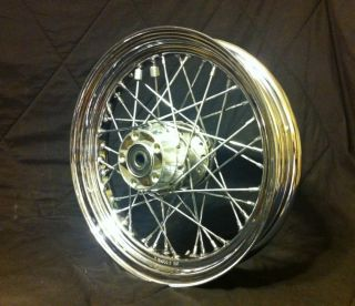 Softail 16x3 40 Spoke Rear Chrome Wheel Rim 43085 97 16x300 3 4