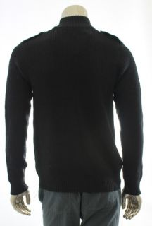 Kenneth Cole Reaction New Black Men Sweater Button Up Wool Cardigan