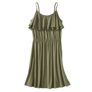 Mossimo Supply Co. Juniors Ruffle Front Dress   Tanglewood Green XXL(19)