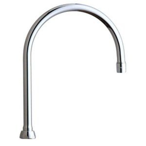 Chicago Faucets GN8AE3JKABCP Universal 8 in. Rigid/Swing Gooseneck Spout