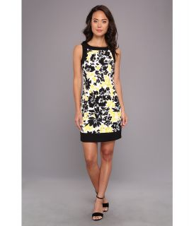 Jessica Howard Sleeveless Framed Sheath Dress Womens Dress (Yellow)