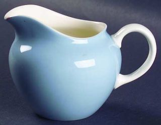 Wedgwood Summer Sky Blue & White Creamer, Fine China Dinnerware   Blue Center, W