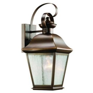 Kichler 9708OZ Outdoor Light, Classic (Formal Traditional) Wall 1 Light Fixture Olde Bronze