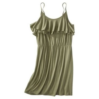 Mossimo Supply Co. Juniors Plus Size Sleeveless Ruffle Front Dress   Green 1