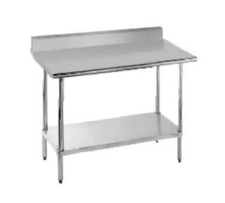 Advance Tabco 48 Work Table   5 Backsplash, 30 W, 16 ga 430 Stainless