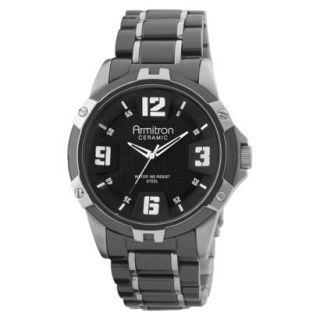 Armitron Mens Black Ceramic Bracelet Watch
