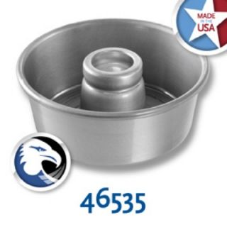Chicago Metallic Glazed Angel Food Tube Cake Pan, 7.5 X 3 1/6 in Deep, Aluminum