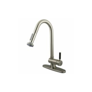 Elements of Design EGS8888DKL Cocina Single Lever Handle Kitchen Faucet with Pul