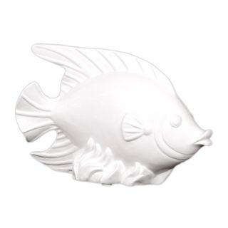 Urban Trends Collection White Ceramic Fish (CeramicDimensions 7.75 inches high x 11.5 inches wide x 3.25 inches deepModel UTC30911UPC 877101309116For decorative purposes onlyDoes not hold water)