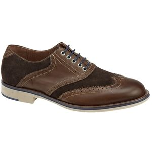 Johnston & Murphy Mens Ellington Wing Tip Brown Espresso Shoes   20 4376